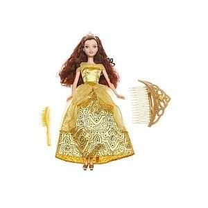 Disney Glitter Princess Doll Belle with Tiara Toys