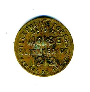 1900 Telephone Token Moise Klinkner San Francisco 1