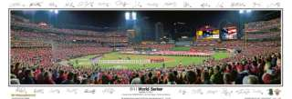 St. Louis Cardinals 2011 WORLD SERIES Panoramic Poster Print w/28
