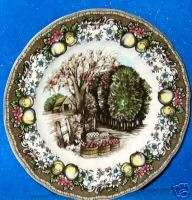 Brothers 8 Friendly Village Apples Luncheon Plates New