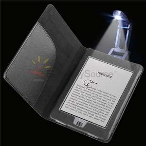 Black Leather Pouch Case Cover+Portable Reading Light For