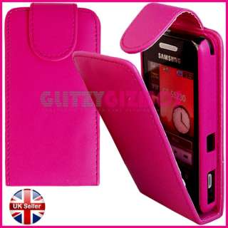 PINK LEATHER POUCH CASE FOR SAMSUNG TOCCO LITE S5230