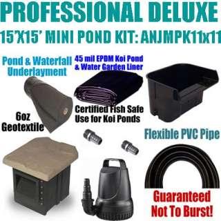 Professional 15x15 Deluxe Mini Pond Kit ANJMPK11x11 for Wholesale