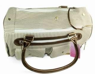 Petcare Pet Dog Cat Tote Bag Carrier Stripe Khaki M
