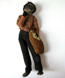 Slave Doll antique african american black history figurine ***