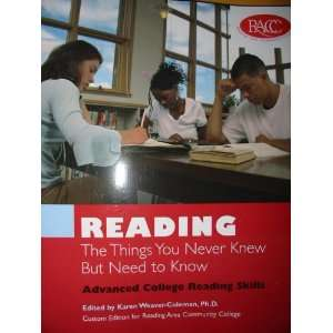 College Reading Skills (Custom Edition for Reading Area Community