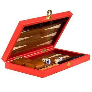 Backgammon Board Game Set Inlaid Wood Case 11 Toys & Games