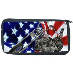 American Flag Harley Davidson Neoprene Pencil Case   pencilcase   Ipod