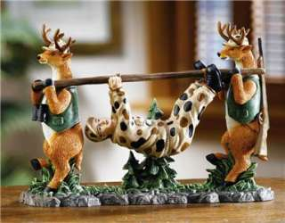 Hunting Season Novelty Deer Catch The Hunter Statue