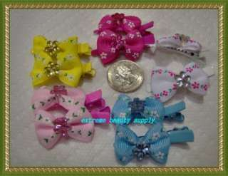 small girl hair clip pin bow Barrette TODDLER Dog 11