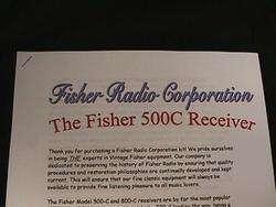 Fisher 500C Vacuum Tube Receiver Restoration Kit