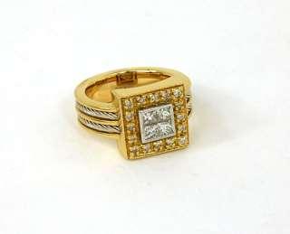 DESIGNER PHILIPPE CHARRIOL 18K GOLD & DIAMONDS RING