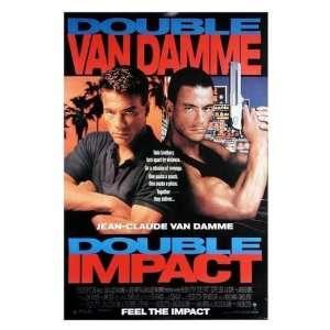 Double Impact (Van Damme) Movie Poster Print   27 X 38