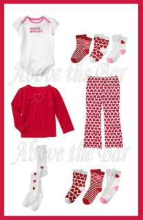 NWT Gymboree Sweet Heart Valentines Day U Pick Style & Size