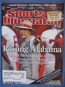 Sports Illustrated ALABAMA Nick Saban Katrina 2007