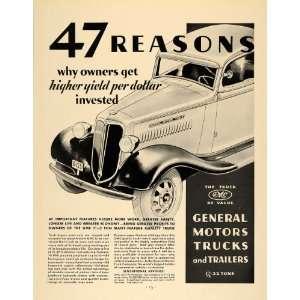 1935 Ad GMC truck General Motor Trucks Transportation