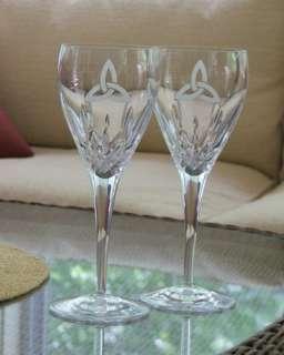Celtic Knot Wedding Wine Glasses Galway Irish Crystal