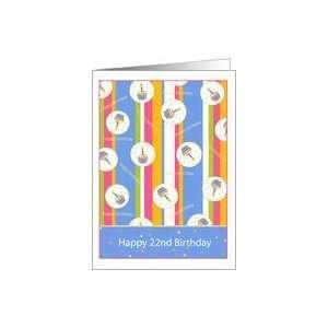 Cupcake Theme 22 Years Old Happy Birthday Card Card Toys