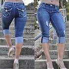 CAPRIS from LA IDOL JEANS SZ 1 13 dark blue rhinestone FAST FREE