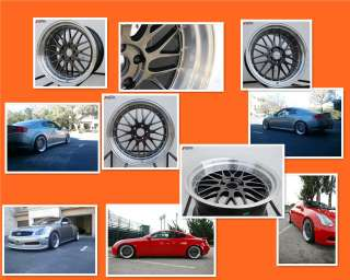 19 STAGGERED VARRSTOEN 5X114.3 LM STYLE WHEEL FIT G35 G37 350Z 370Z