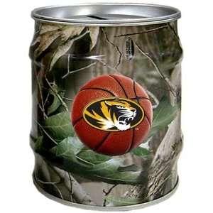 Missouri Tigers MIZZOU MU NCAA Basketball Realtree Tin Bank
