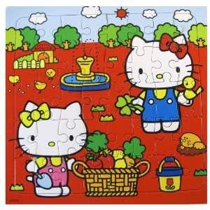 Sanrio 40 Piece Apple Picking Coloring Hello Kitty Puzzle