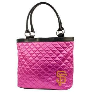 MLB San Francisco Giants Pink Quilted Tote Sports