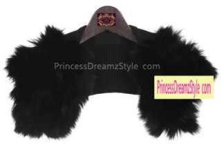 100% Real Fox Fur Black Knitting Short Vest Jacket Sweater Tippet Coat