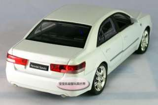 New Hyundai Sonata 132 Alloy Diecast Model Car With Sound&Light White