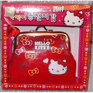 Japanese Anime HELLO KITTY Character Red Bows COIN PURSE
