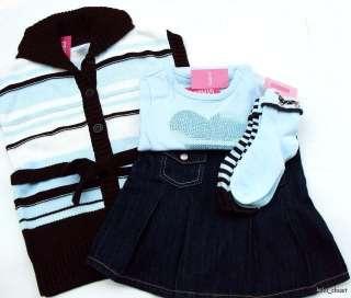 Gymboree Girls Best Friend 4 Pc Vest Skort Heart Tee Socks Sz 6 NWT