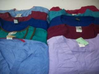Medical Dental Scrubs Vet Lot of 10 SOLID Shirts Tops Size XL XLARGE