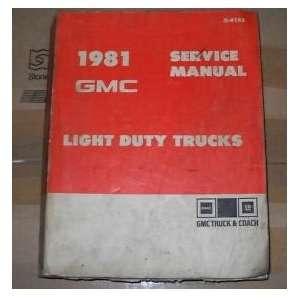 1981 GMC Truck Jimmy Suburban Service Shop Manual Oem gm