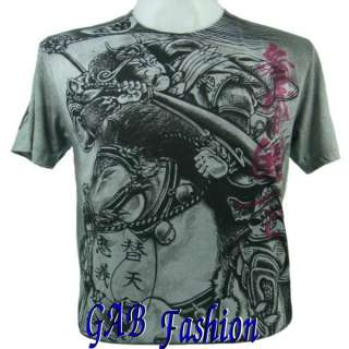 Japanese Samurai Sword Horse Women Tattoo Mens T Shirt