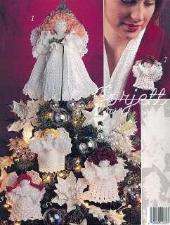 Sweet Christmas Angels crochet patterns, new OOP