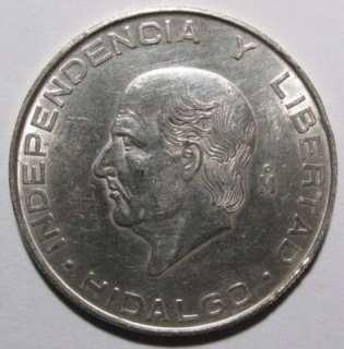 1956 mo 5 peso mexico hidalgo coin gem bu 72 % silver 6430 asw