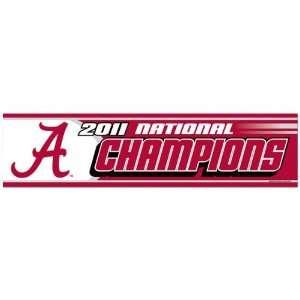Alabama Crimson Tide 2011 BCS National Champions Bumper