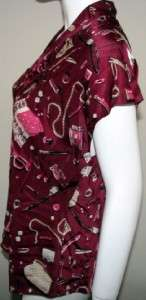 NEW Womans TALBOTS PETITES TIE NECK CAP SLEEVE SILK BLOUSE/TOP size