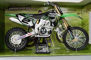 KAWASAKI KX450F 2010 MONSTER HUGE 1/6th DIECAST MODEL MX MOTORCYCLE