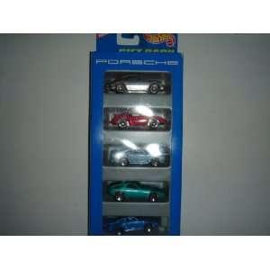 1996 Hot Wheels 5 Car Porsche Gift Pack Toys & Games
