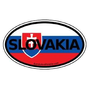 Slovakia Flag Car Bumper Sticker Decal Oval