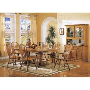 Solid Oak Nostalgia Dining Room Set: Home & Kitchen