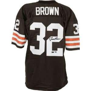 Jim Brown Autographed Jersey  Details Brown, Custom, HOF 71