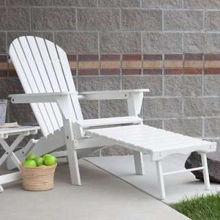 Big Daddy Adirondack Outdoor Patio Deck Chair with Pull Out Ottoman