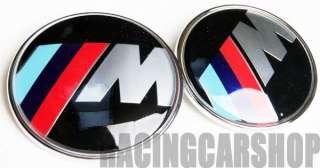 BMW M POWER WHEEL CENTER emblem HOOD TRUNK EMBLEM 7PCS