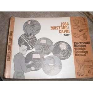 & Vacuum Troubleshooting Manual Mustang/capri ford motor co. Books