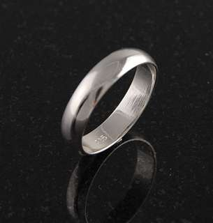 Sterling Silver Plain 5mm Band Wedding Ring Solid 925 Jewelry Rounded