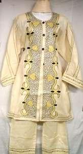 Women Clothing Dress Pant Suit Mustard Maize SeaFoam Cream NotCom XL