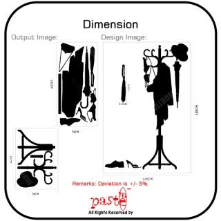 Wall Stickers Art Decal Vinyl Decor Coat Hanger PMCH001