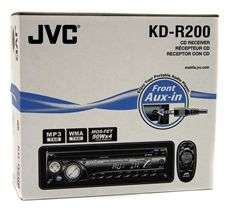 JVC KD R200 CAR CD/ PLAYER RADIO STEREO RECEIVER+EQ 046838036415